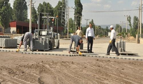 Günkiri belediyesi yol çalışması 9.000 M2